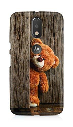 Amez AMAB152D02630 designer printed 3d premium high quality back case cover for Motorola Moto G4 Plus (Cute Taddy Bear)