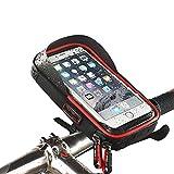 Sac de guidon de vélo, XPhonew Téléphone imperméable à l'eau Support de support de guidon de vélo avec 360 Rotation pour iPhone 7 6S 6 Plus Samsung Galaxy S8 S7 S6 Edge Note 4 5 Smartphone jusqu'à 6''