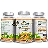 amers noyaux graine d'Abricot biologiques pour animaux de compagnie| 500mg x 90 capsules | B17 naturelle amygdaline | sans additif