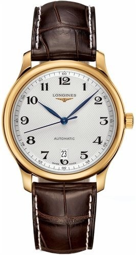 Longines watches- Longines Master Collection in oro 18 K automatico trasparente custodia posteriore orologio da uomo