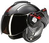 Beon B702 Reverse Glänzend Schwarz - Klapphelm - Motorrad helm - M