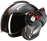 Beon B702 Reverse Glänzend Schwarz - Klapphelm - Motorrad helm - L