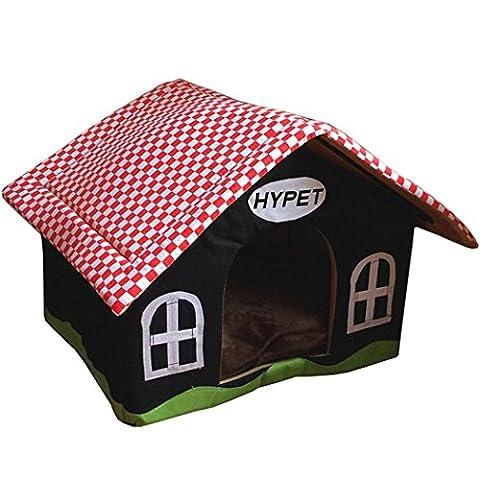 ZSY Pet House, Petit Chien Cat Bed Tent Kennel, Avec