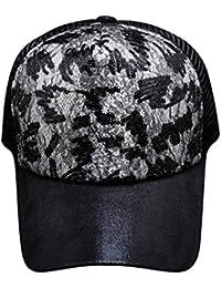 ba3cac9b0dc05 ITODA gorra de béisbol Snapback sombrero de sol visera playa malla Cap  Hip-hop Unisex