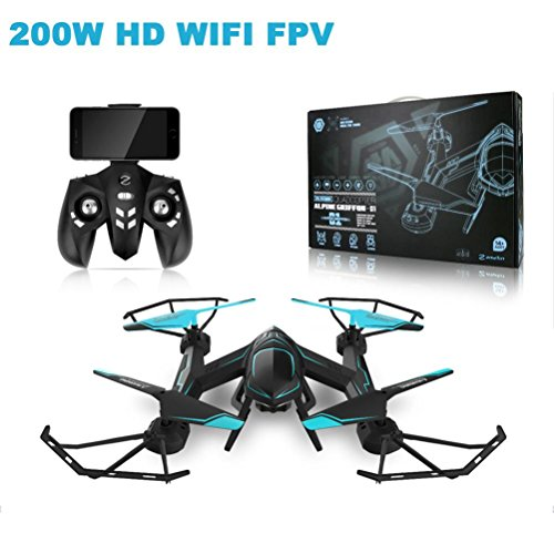 Zolimx RC Quadcopter Helikopter 0.3MP HD Kamera Drone WiFi FPV TELEFON