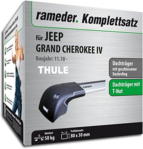 Rameder Komplettsatz, Dachträger WingBar Edge für Jeep GRAND CHEROKEE IV (119057-09072-1)