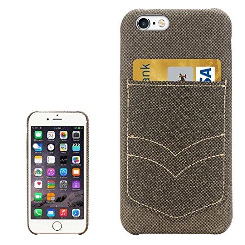 Phone case & Hülle Für iPhone 6 Plus / 6s Plus, Jeans Pocket Texture Schutzmaßnahmen zurück Fall mit Card Slot ( Color : Coffee ) Brown