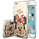VCOMP® Transparente Silikon TPU Handy Schutzhülle mit Motiv Cartoon Disney für Apple iPhone 6/ 6s - Minnie Mouse