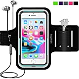 Smartlle Sportarmband für iPhone XS MAX 8 Plus 7 Plus 6/6S Plus, Galaxy S9/S8/S7 Plus, Note 8/6 LG V20 Huawei Mate 20 10 Pro. Running, Workout & Joggen Laufen Armband - Handyhalter Case(schwarz)