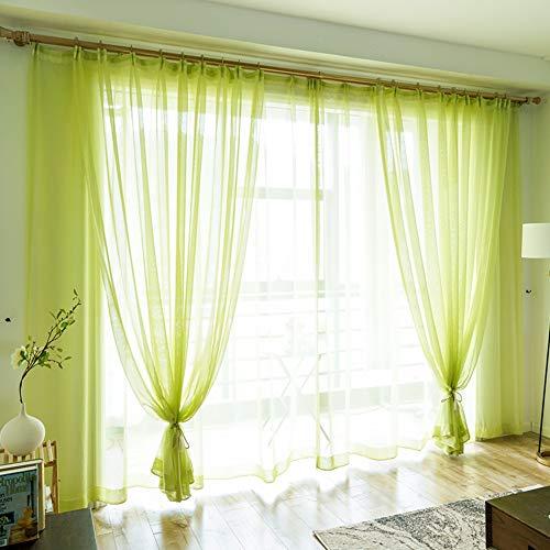 Yhviking principessa vento oscuranti tenda,tenda in tulle,facile da lavare impediscono alla luce solare per pavimento al soffitto bovindo camera da letto(1 tenda)-verde 400x270cm(157x106inch)