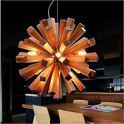 Modylee LED Lampada da soffitto moderne luci lampada da letto minimalista accogliente salotto balcone corridoio tronchi di studio Nordic lampada sul comodino di legno e lampade da tavolo tubo lampada corda p