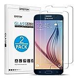 S6 Cristal Templado [2 Unidades] OMOTON Samsung Galaxy S6 Protector de Pantalla [2.5d Borde redondo]con[9H Dureza][Alta Definicion][Garantía  de por vida]