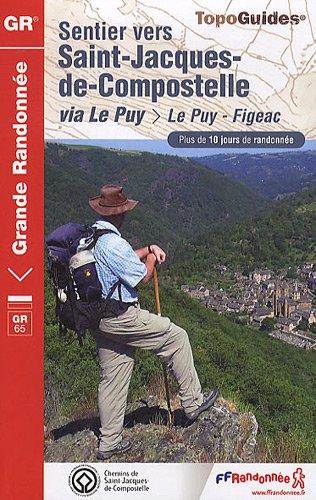 Sentier vers Saint-Jacques-de-Compostelle via Le Puy-Figeac
