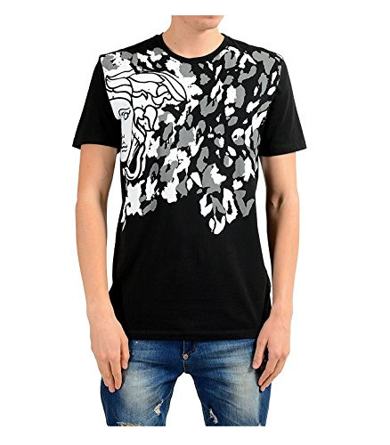 Versace Collection Herren T-Shirt Medusa Logo (M, Schwarz)