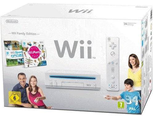 "Nintendo Wii ""Family Edition\"" - Konsole inkl. Wii Sports + Wii Party, weiß"