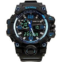 HUKOER Waistwatch Mens Watch grande manopola digitale orologio resistente all'acqua Guardare Calendario orologi sportivi Allarme (Orologio Subacqueo)