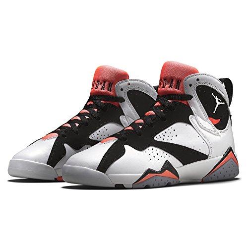 Nike Air Jordan 7 Retro Gg, Scarpe da Corsa Bambina Bianco/bianco/Black/Caldo Lava