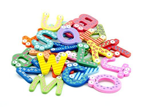 tinxs AKORD–Funky Divertido colorido letras A-Z imanes de nevera de madera niños juguetes Educación, madera,, 5,8x 4x 0,5cm