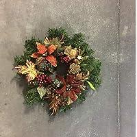 La Favola Incantata® – Corona Guirnalda Papel Country Shabby Chic Vintage Floral Decorativo Artesanal Navidad