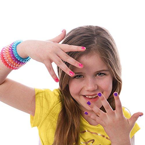 GirlZone Cadeau Fille | Nail Art Studio | Décoration pour Les Ongles | Maquillage pour Enfants | Coffret Maquillage Enfant | Coffret Nail Art | Loisir Créatif Fille 4 à 11 Ans