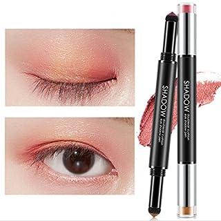 TAOtTAO Double Head Pen Baked Eye Shadow Powder Palette Shimmer Metallic Eyeshadow (A)