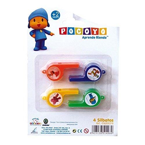 Pocoyo - Blíster con 4 silbatos (Verbetena 016000318)