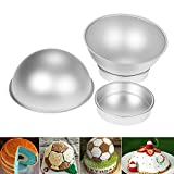 4 teilig Backform Kuchenform Kugelform Aluminium Fondant Sports Ball Set Fußball Baskeball Tennis Golf