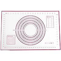 Tapis de Cuisson, LoveChef Anti-Adhérent Feuille de Cuisson en Silicone Large (400*600 mm), Feuille à pâtisserie pour Décoration de Gâteaux, Nappages et Glaçages