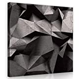FORWALL Bilder Canvas 3D Geometrisch Betonmauer O2 (80cm. x 80cm.) Leinwandbilder Wandbild AMFPP10091O2