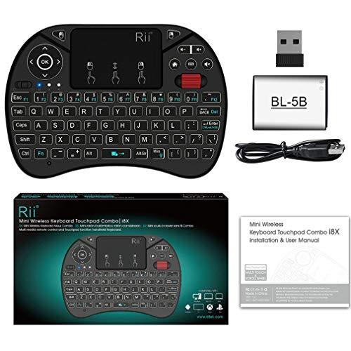 Rii i8X Mini 2.4G Wireless Tastatur-Touchpad Combo mit Hintergrundbeleuchtung