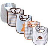 Luvable Friends 5 Piece Character Bib with Waterproof Backing