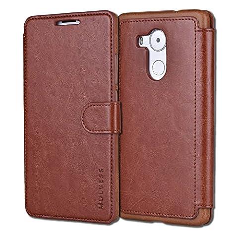 Coque Huawei Mate 8,Mulbess Housse Etui en cuir Avec Wallet