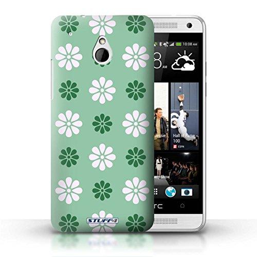 Kobalt® Imprimé Etui / Coque pour HTC One/1 Mini / Violet conception / Série Motif avec pétales Vert