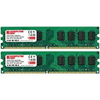 Komputerbay 4Go (2x 2Go) DDR2 800MHz PC2-6300 PC2-6400 DDR2 800 (240 PIN) DIMM ordinateur de bureau Mémoire