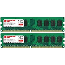Komputerbay - Modulos memoria DIMM (240 PIN) para PC, 4GB (2 x 2GB), DDR2, 800MHz, PC2-6300/PC2-6400
