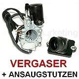 Unbranded Sport VERGASER 17,5mm E-Choke ANSAUGSTUTZEN für Aprilia SR SR50 50 ab04 Wasser