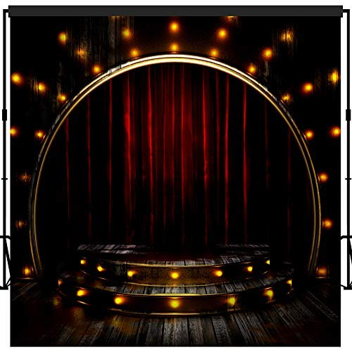 musykrafties Fotografie Hintergrund Party Wand Photo Booth Props 10x10 Füße #1614 Moulin Rouge Musical Setting Stage and Stairs