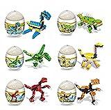 jinzhicheng 6Dinosaurier Twist Eier Kinder Bildungs-Spielzeug Puzzle DIY Spielzeug (zufällige Farbe)