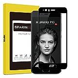 SPARIN 3D Full-Cover Schutzfolie für Huawei P10 [Nicht für P10 Plus und P10 Lite] Panzerglas Displayschutzfolie Folie [Blasenfrei] [Anti-Kratz] [9H-Härte] [Anti-Fingerprint ] [Schwarz]