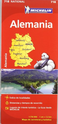 Mapa National Alemania (Mapas National Michelin) por Vv.Aa