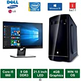 "Desktop PC - Intel Core I5 660 Processor / 21.5"" LED Monitor / 4GB Graphics / Windows 10 Pro / 500GB HDD / DVD / WiFi"