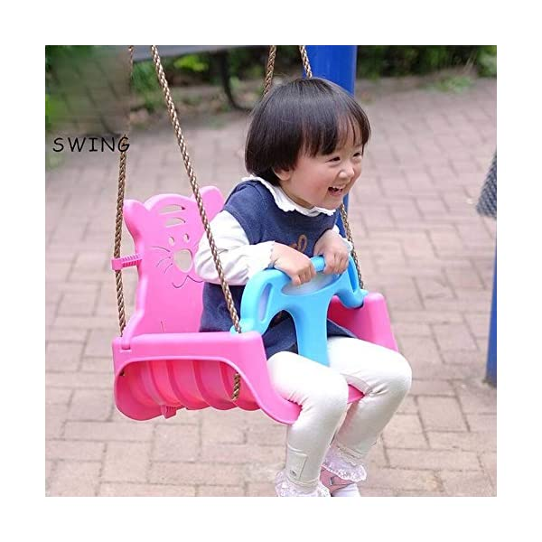 JTYX 3 in 1 Children's Swings Indoor Home Hammocks Baby Seat Outdoor Swing Chair Child Toy Hammock Chairs JTYX Strong carrying capacity: sturdy and durable, bearing capacity up to 100kg, ensuring stable swing. Rugged and durable: high temperature resistance, fading resistance, ensuring safe use. Versatility: Through these swings, you can inspire your child's ability to balance and promote balance while bringing happiness and total relaxation. 6