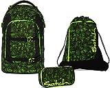 Satch Schulrucksack-Set 3-tlg Pack Green Bermuda Grün