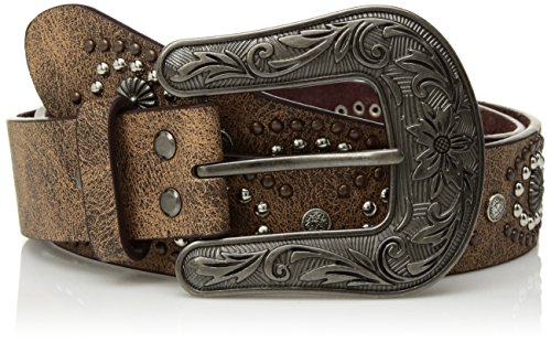 Nocona Belt Co. Damen Nocona Oval Center Stud Design Belt Gürtel, braun, Groß Stud Belt