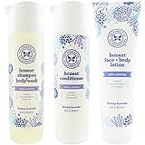 The Honest Company: Dreamy Lavender Scented Shampoo + Body Wash (10 oz), Conditioner (10 oz) & Face + Body Lotion (8.5 oz)