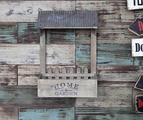 New day-Pays faisant ancien stoccaggio di cucina de porte-bagages jardinage bois décorations murali fleur griglie floreali 26X15.5X36.5CM , yellow , 26x15.5x36.5cm