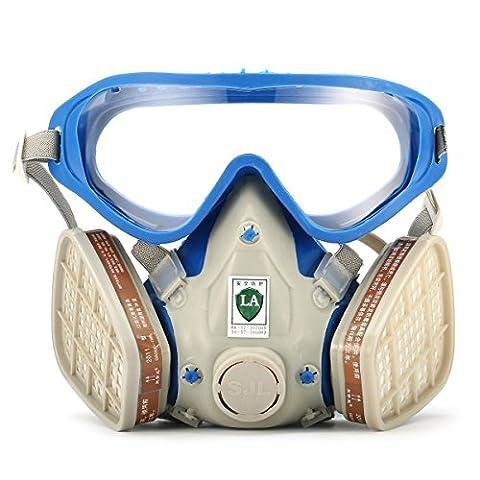 Zenpy Masque de protection respiratoire complète contre peinture chimique, gaz, poussière, pesticides, incendies avec masques anti poussière