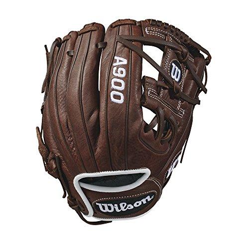 WILSON 2018A900Pedroia Fit Handschuhe-Rechte Hand Überwurf dunkel braun/weiß, 29,2cm