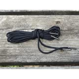Mad Dog Laces Mad Dog Boot Laces *Guaranteed For Life* 550 Paracord Steel Tip Black 36inch 4 To 6 Eyelets