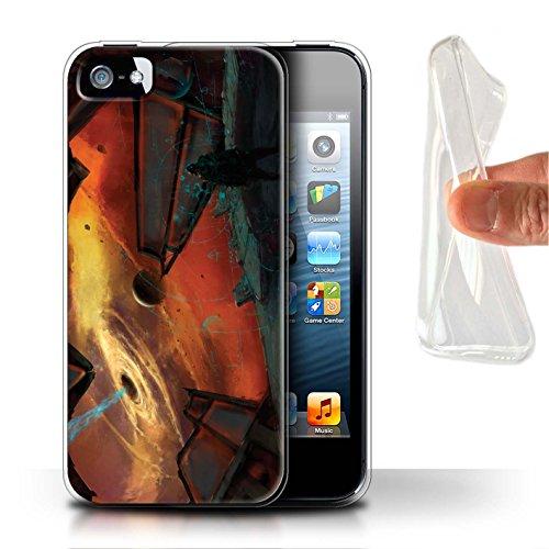 Offiziell Chris Cold Hülle / Gel TPU Case für Apple iPhone 5/5S / Entfernten Stern Muster / Galaktische Welt Kollektion Schwarzes Loch